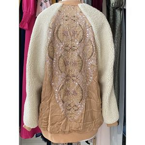 Free People Jackets & Coats - Free People Embroidered Sherpa Wicked Games Jacket